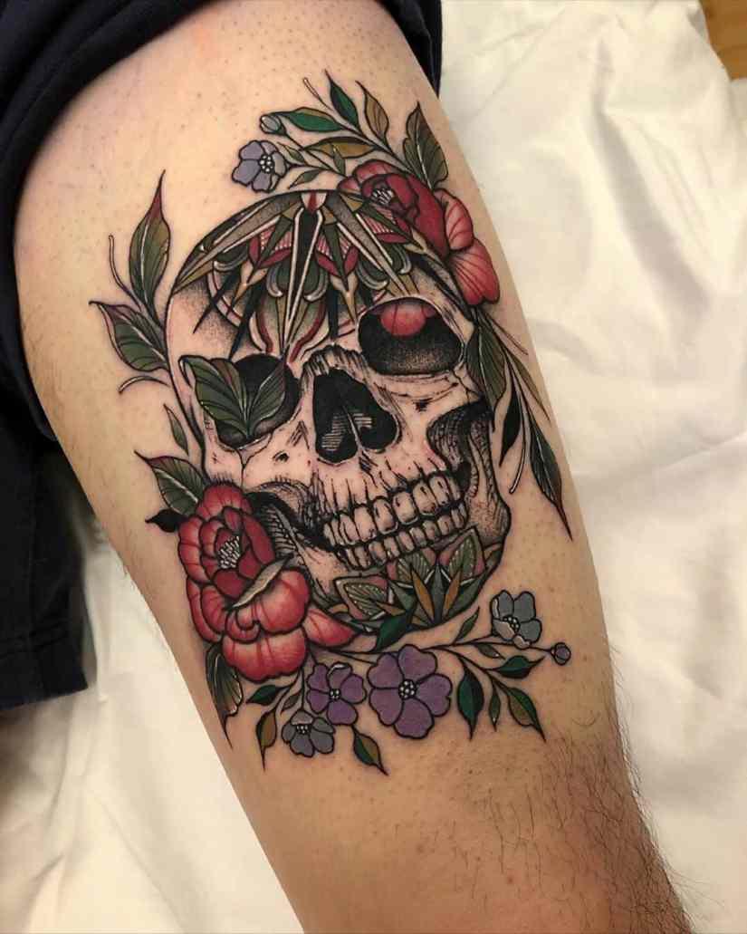 skull tattoo 2020070502 - 10 Best Skull Tattoo Designs and Meaning