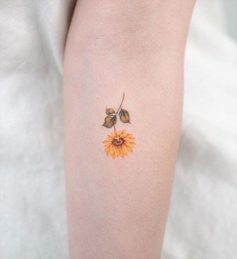 sunflower tattoo ideas 2020070404 - The Best Sunflower Tattoo Ideas and Meaning