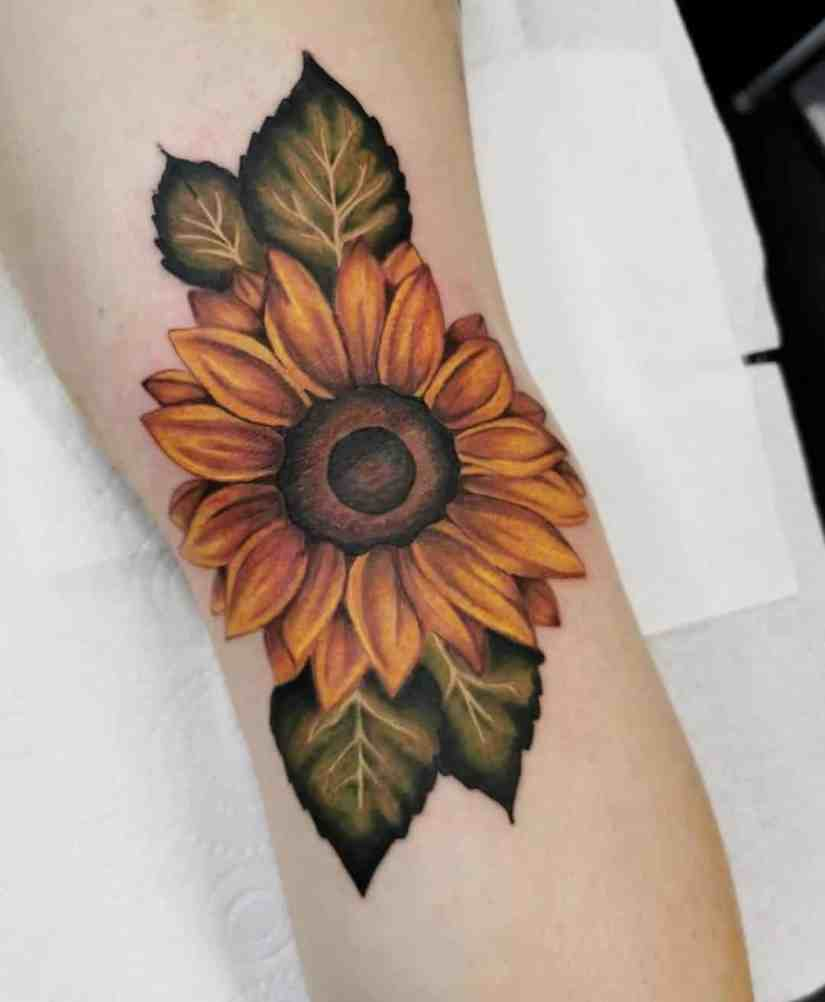 sunflower tattoo ideas 2020070406 - The Best Sunflower Tattoo Ideas and Meaning