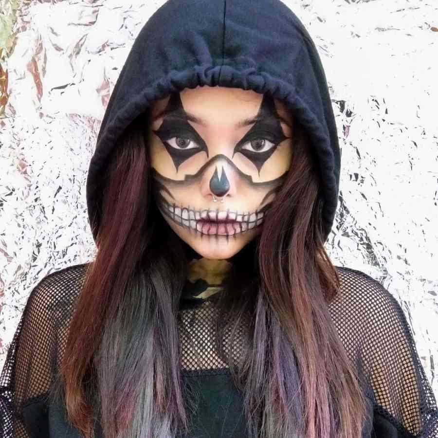 Halloween Skull Makeup 2020083001 - 10+ Scary Halloween Skull Makeup Ideas