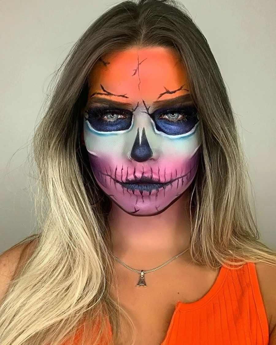 Halloween Skull Makeup 2020083005 - 10+ Scary Halloween Skull Makeup Ideas