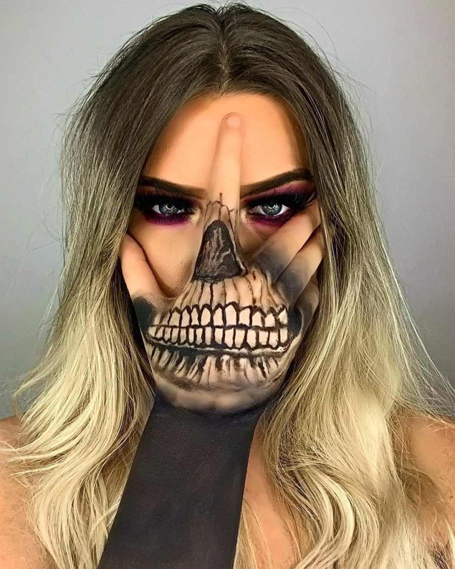 Halloween Skull Makeup 2020083007 - 10+ Scary Halloween Skull Makeup Ideas