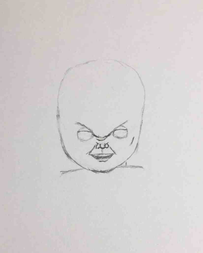 Draw Chucky 2020092907 - How to Draw CHUCKY (Child's Play)-Step by Step