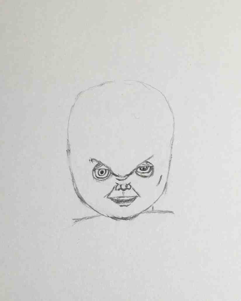 Draw Chucky 2020092908 - How to Draw CHUCKY (Child's Play)-Step by Step