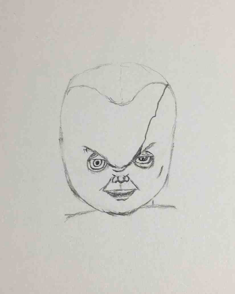 Draw Chucky 2020092909 - How to Draw CHUCKY (Child's Play)-Step by Step