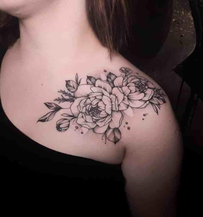 Peony Tattoo 2020091404 - 15 Gorgeous Peony Tattoo Ideas and Meanings
