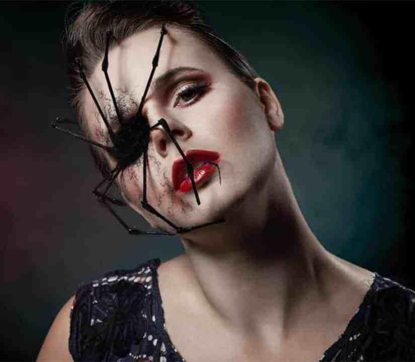 spider makeup 2020090701 - 20+ Creepy Spider Makeup for Halloween 2020