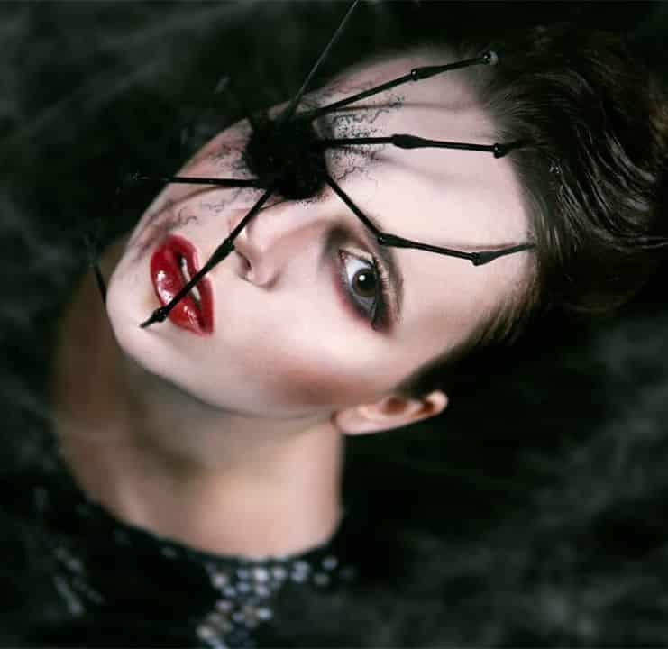 spider makeup 2020090702 - 20+ Creepy Spider Makeup for Halloween 2020