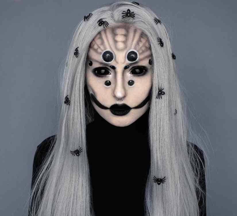spider makeup 2020090704 - 20+ Creepy Spider Makeup for Halloween 2020