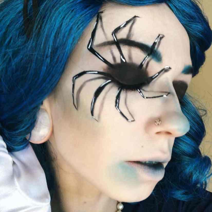 spider makeup 2020090721 - 20+ Creepy Spider Makeup for Halloween 2020