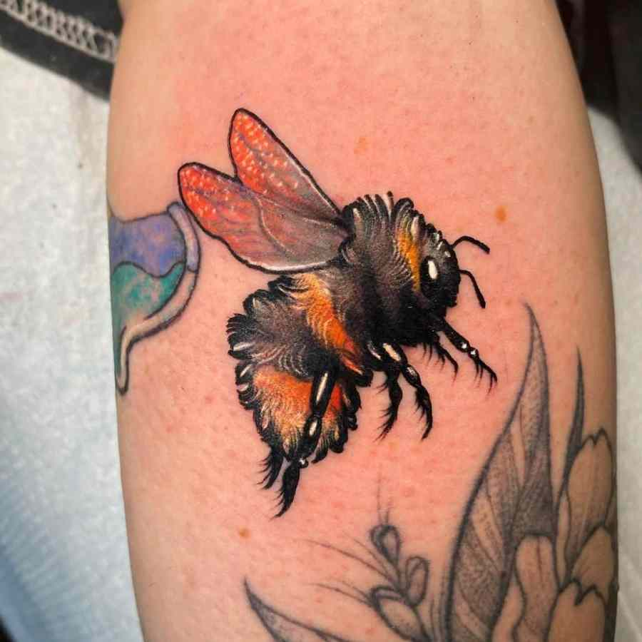 Bumblebee Tattoo 2020102609 - 20+ Attractive Bumblebee Tattoo Designs and Meanings