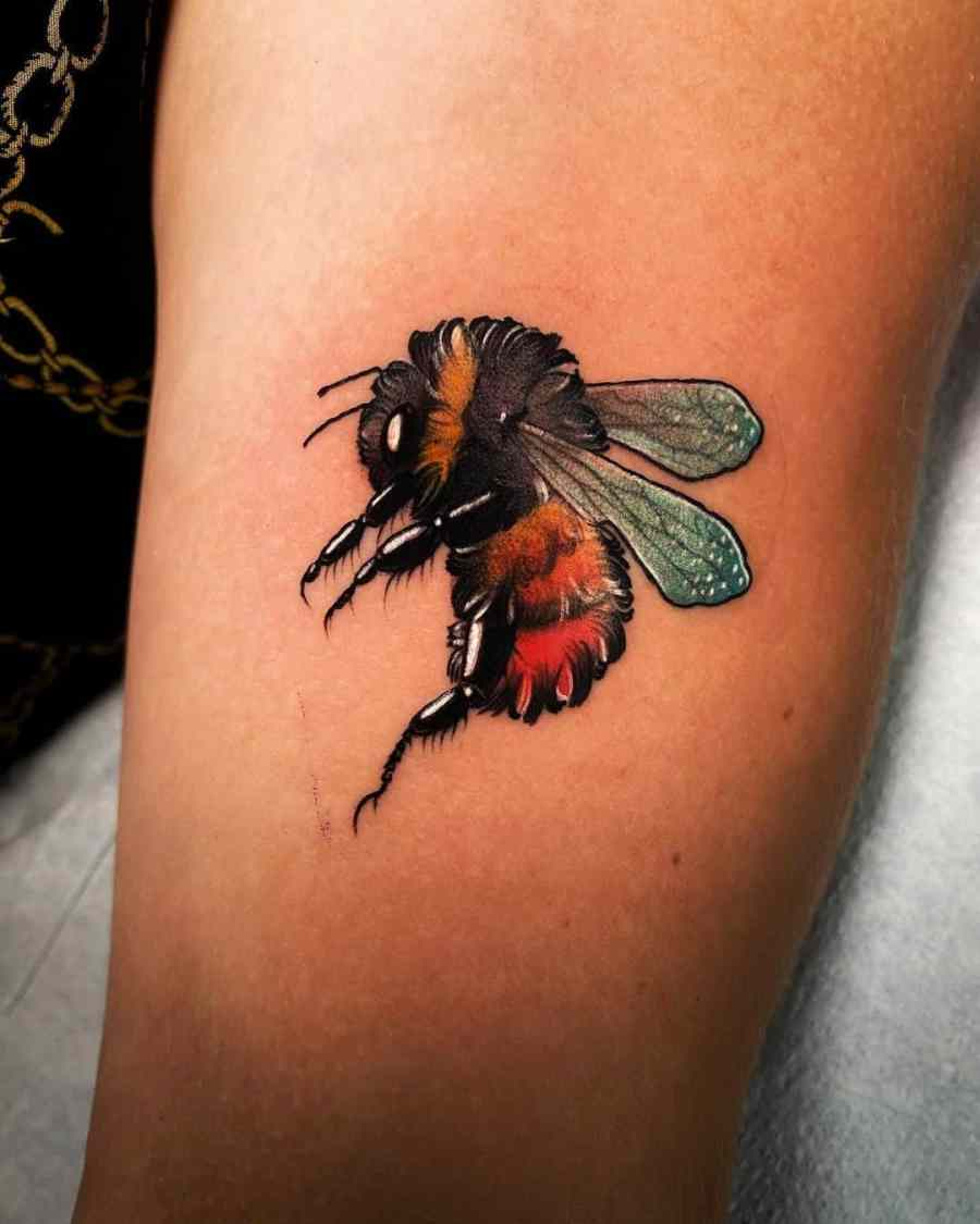 Bumblebee Tattoo 2020102610 - 20+ Attractive Bumblebee Tattoo Designs and Meanings