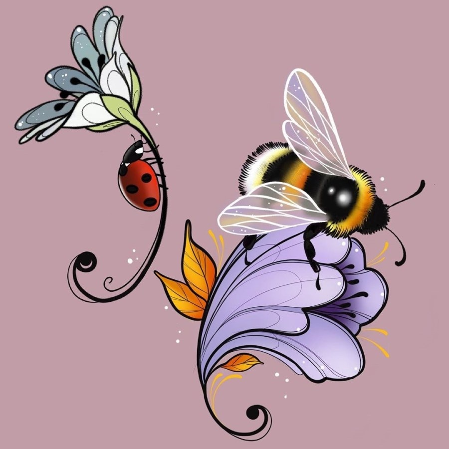 Bumblebee Tattoo 2020102611 - 20+ Attractive Bumblebee Tattoo Designs and Meanings