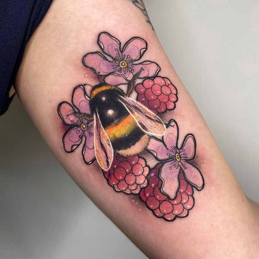 Bumblebee Tattoo 2020102612 - 20+ Attractive Bumblebee Tattoo Designs and Meanings