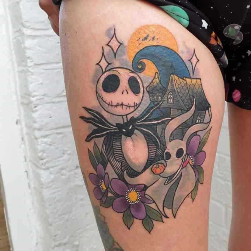 Jack Skellington Tattoos and Sally Tattoos 2020101201 - 20+ Jack Skellington Tattoos and Sally Tattoos