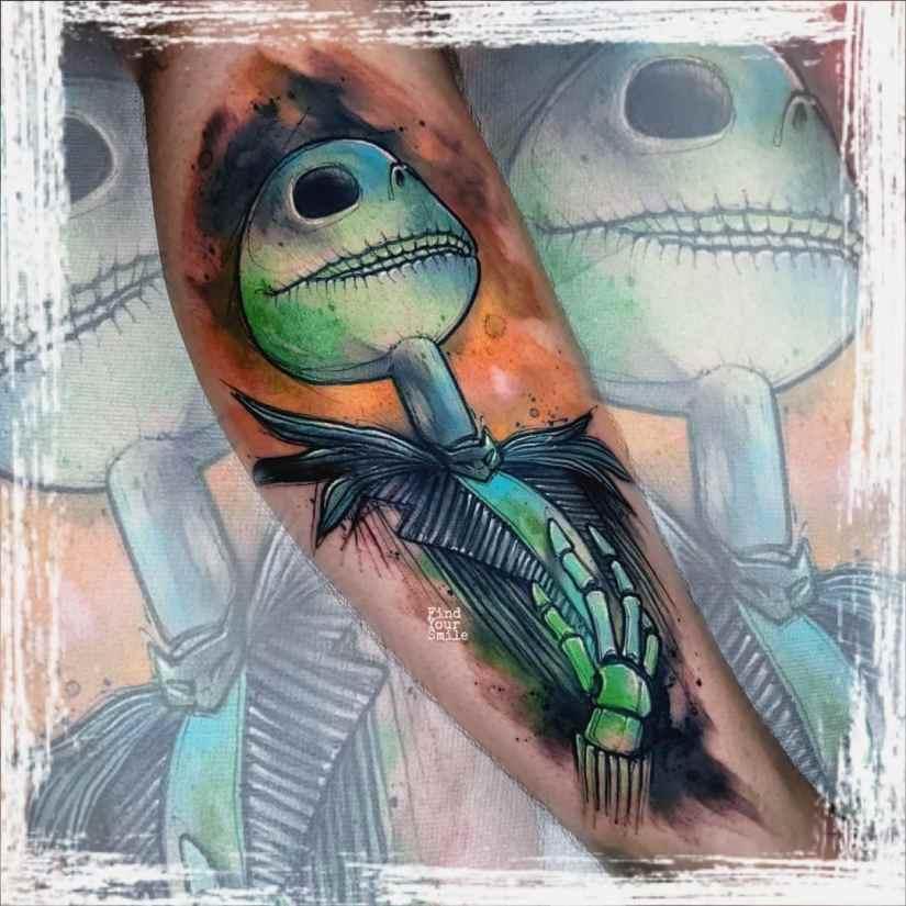 Jack Skellington Tattoos and Sally Tattoos 2020101220 - 20+ Jack Skellington Tattoos and Sally Tattoos