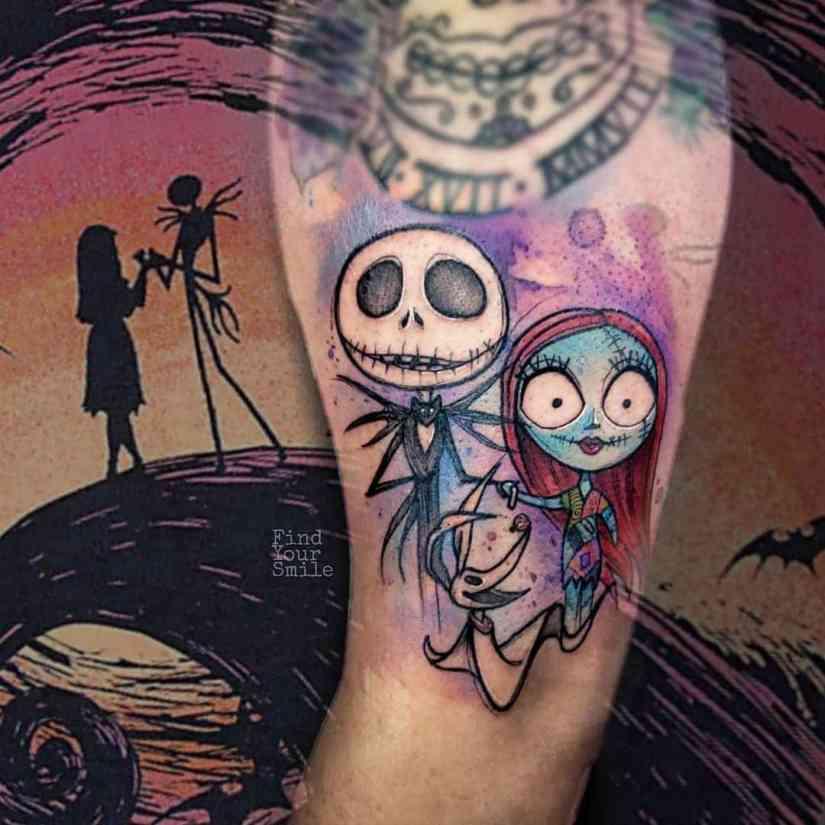 Jack Skellington Tattoos and Sally Tattoos 2020101221 - 20+ Jack Skellington Tattoos and Sally Tattoos
