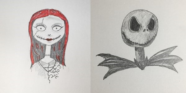 draw-Jack-Skellington-and-Sally-202010