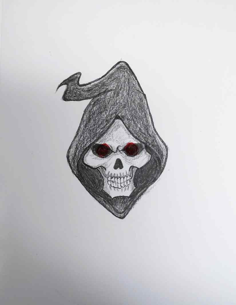 draw grim reaper 2020101509 - How to Draw Grim Reaper Face - Step by Step Tutorial