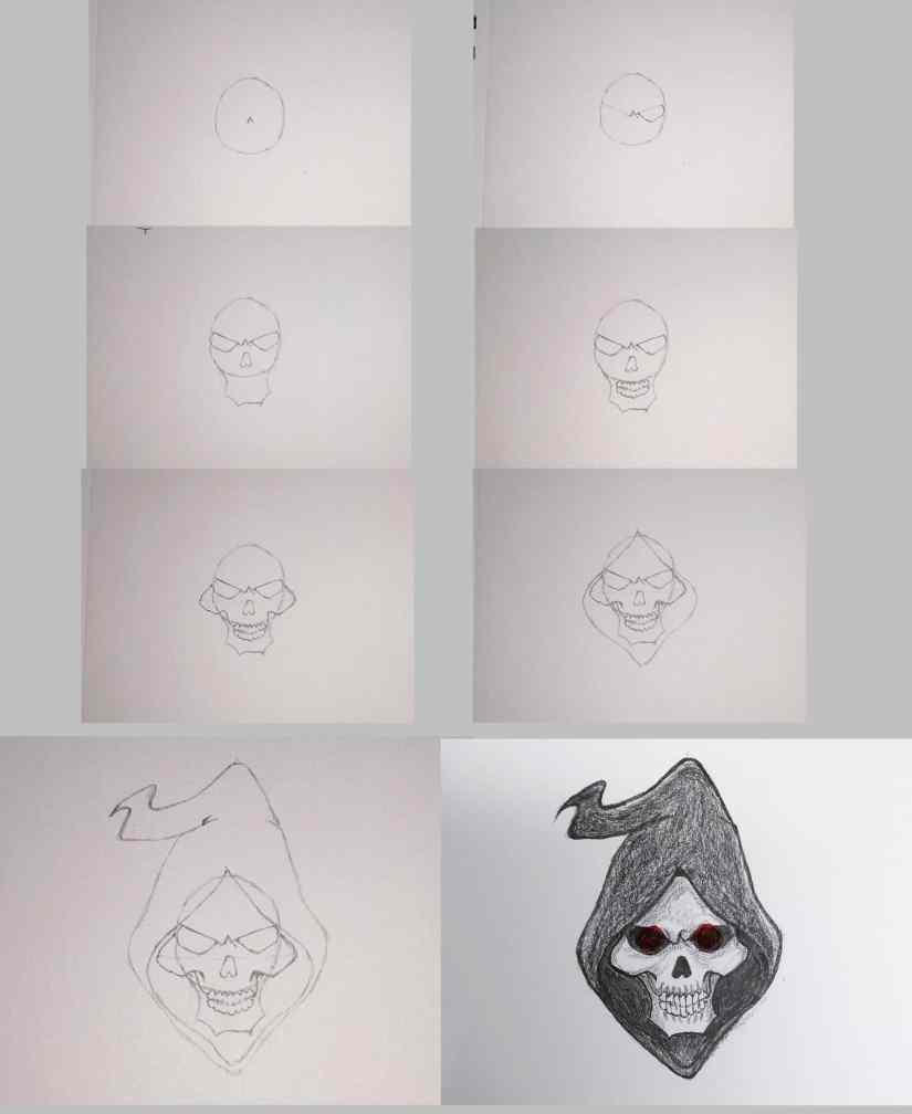 draw grim reaper 2020101510 - How to Draw Grim Reaper Face - Step by Step Tutorial