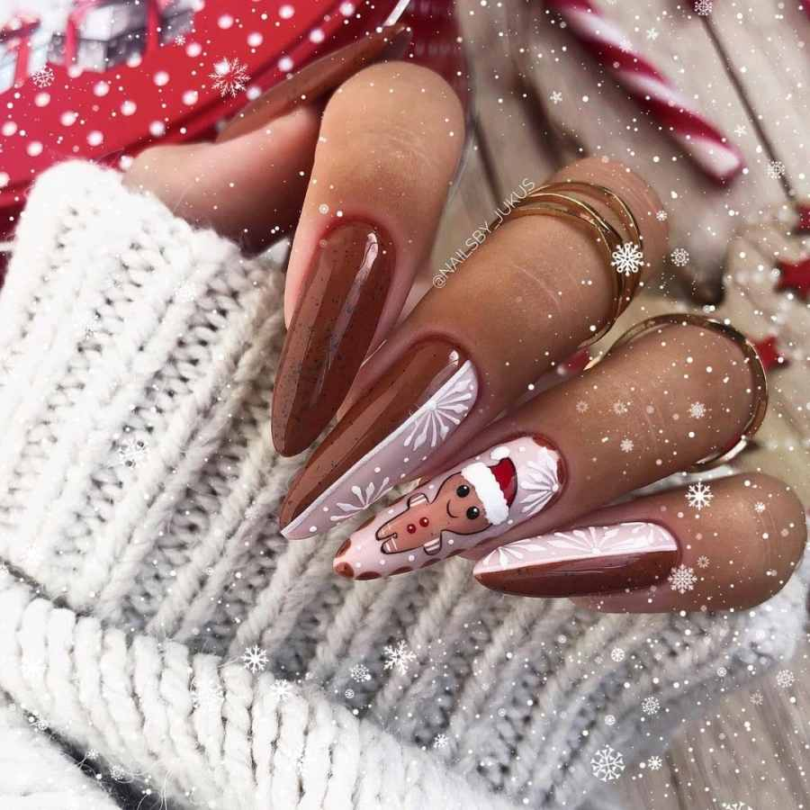 Christmas nails 2020112302 - Gorgeous Christmas Nails 2020 Best Holiday Atmosphere