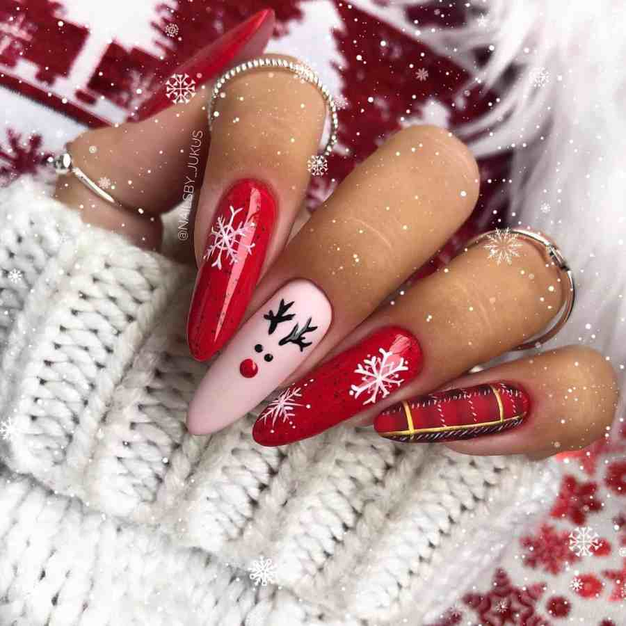 Christmas nails 2020112309 - Gorgeous Christmas Nails 2020 Best Holiday Atmosphere
