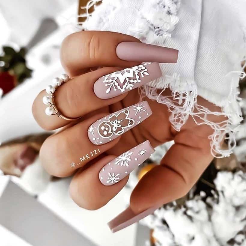 Christmas nails 2020112314 - Gorgeous Christmas Nails 2020 Best Holiday Atmosphere