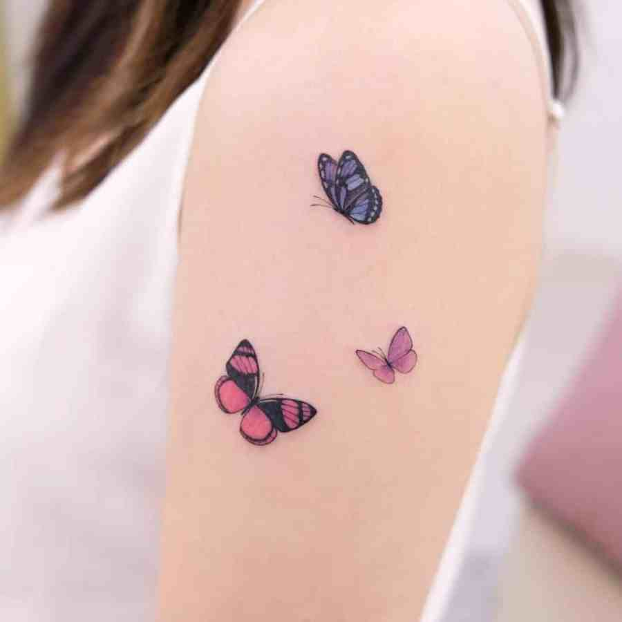 Small Butterfly Tattoo 2020110914 - 20+ Cute Small Butterfly Tattoo Designs and Ideas