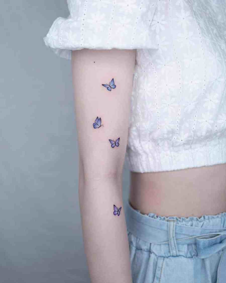 Small Butterfly Tattoo 2020110925 - 20+ Cute Small Butterfly Tattoo Designs and Ideas