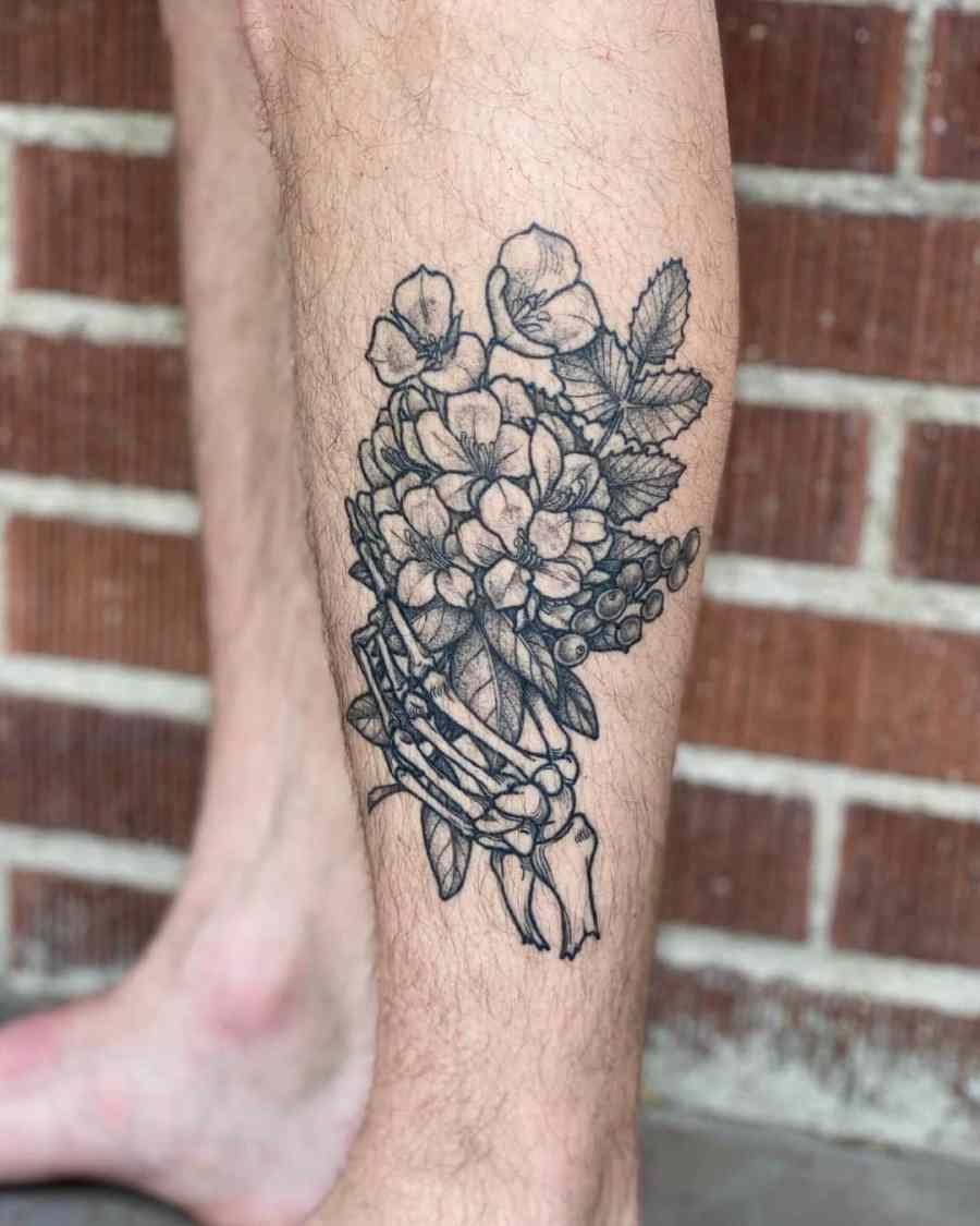 Skeleton Hand Tattoo 2020123004 - Amazing Skeleton Hand Tattoo Ideas to Inspire