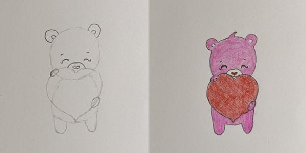 Draw-a-Valentine's-Day-Bear
