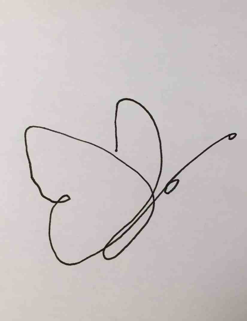 One Line Drawing Butterfly 2021013002 - Learn How to One Line Drawing Butterfly