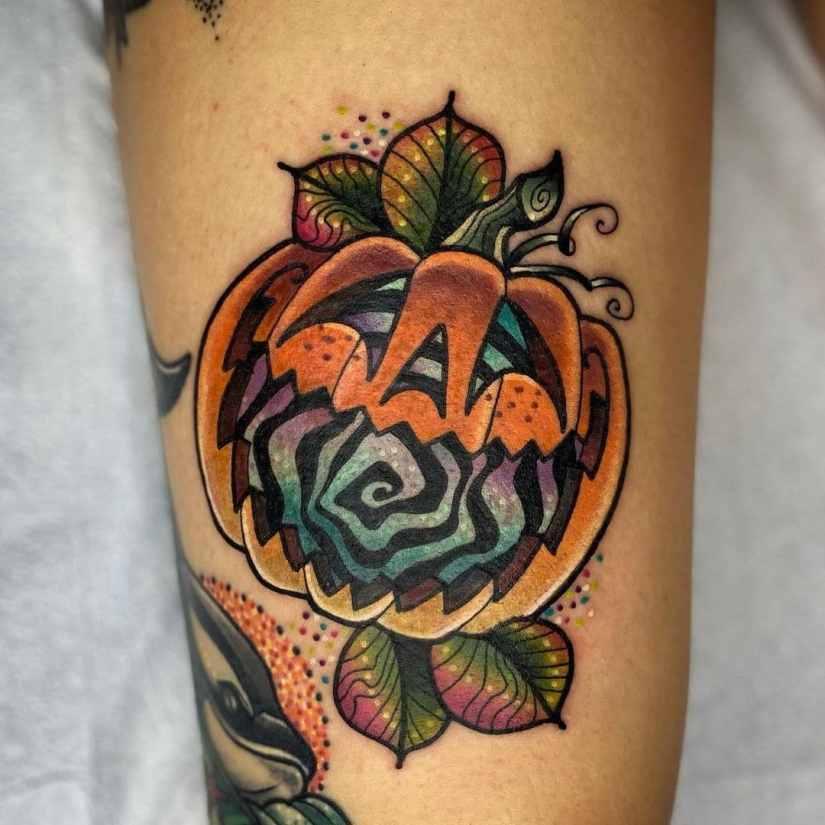 pumpkin tattoo 2021011809 - 10+ special pumpkin tattoo ideas 2021