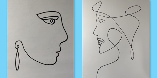 One line drawing face-2021021833
