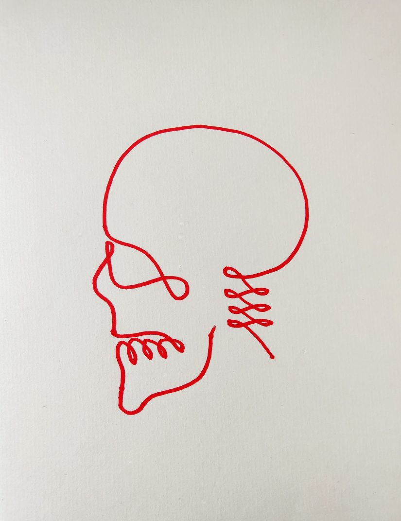 One line drawing skull 2021032801 scaled - Learning How to One Line Drawing Skull