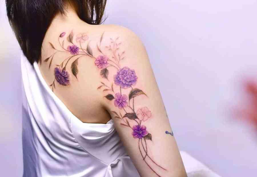 Carnation Tattoo 2021061502 - January Birthday Flower Tattoo - Carnation Tattoo