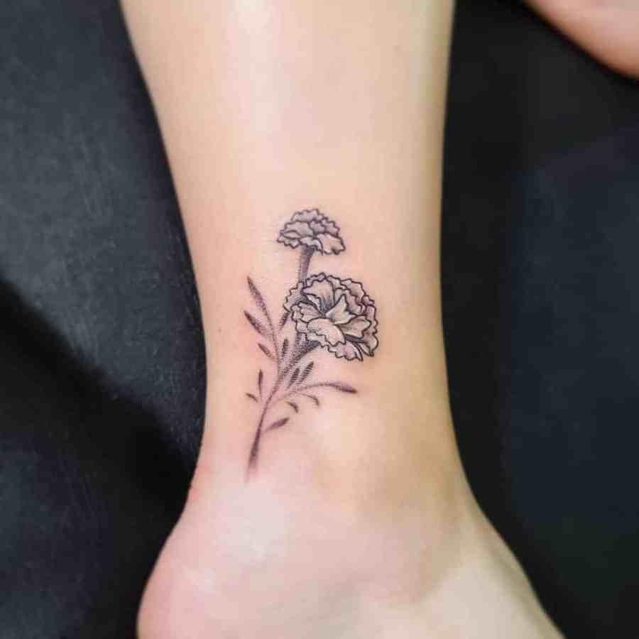 Carnation Tattoo 2021061506 - January Birthday Flower Tattoo - Carnation Tattoo