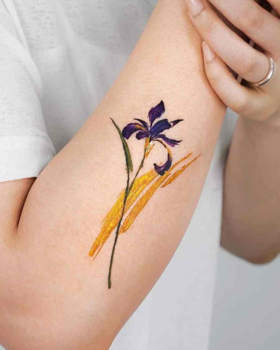 Iris tattoo ideas 2021062107 - February Birth Flower Tattoo - Iris Tattoo Ideas