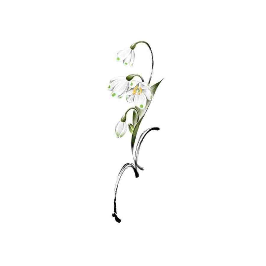 January Birth Flower Tattoo 2021061907 - January Birth Flower Tattoo - Snowdrop Tattoo