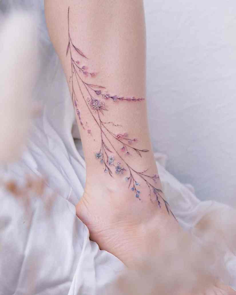 Lavender Tattoos 2021060302 - 10 Beautiful Lavender Tattoos to Inspire You