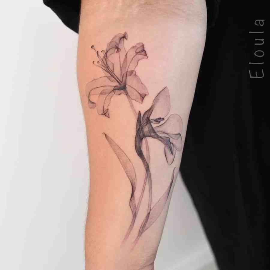August Birth Flower Tattoos 2021072905 - August Birth Flower Tattoos: Poppy and Gladiolus Tattoos