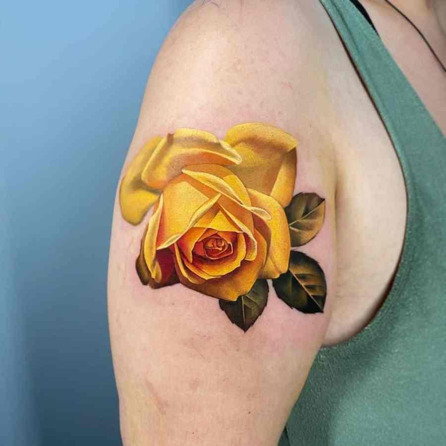 June Birth Flower Tattoos 2021072601 - June Birth Flower Tattoos: Honeysuckle and Rose Tattoo