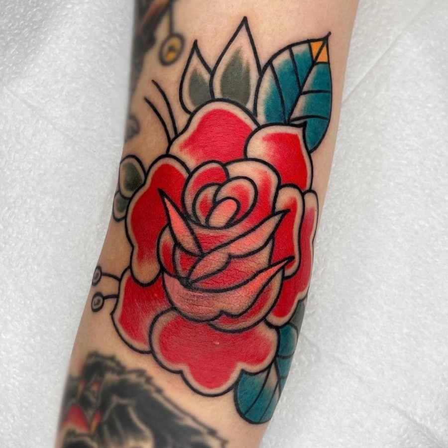 June Birth Flower Tattoos 2021072607 - June Birth Flower Tattoos: Honeysuckle and Rose Tattoo