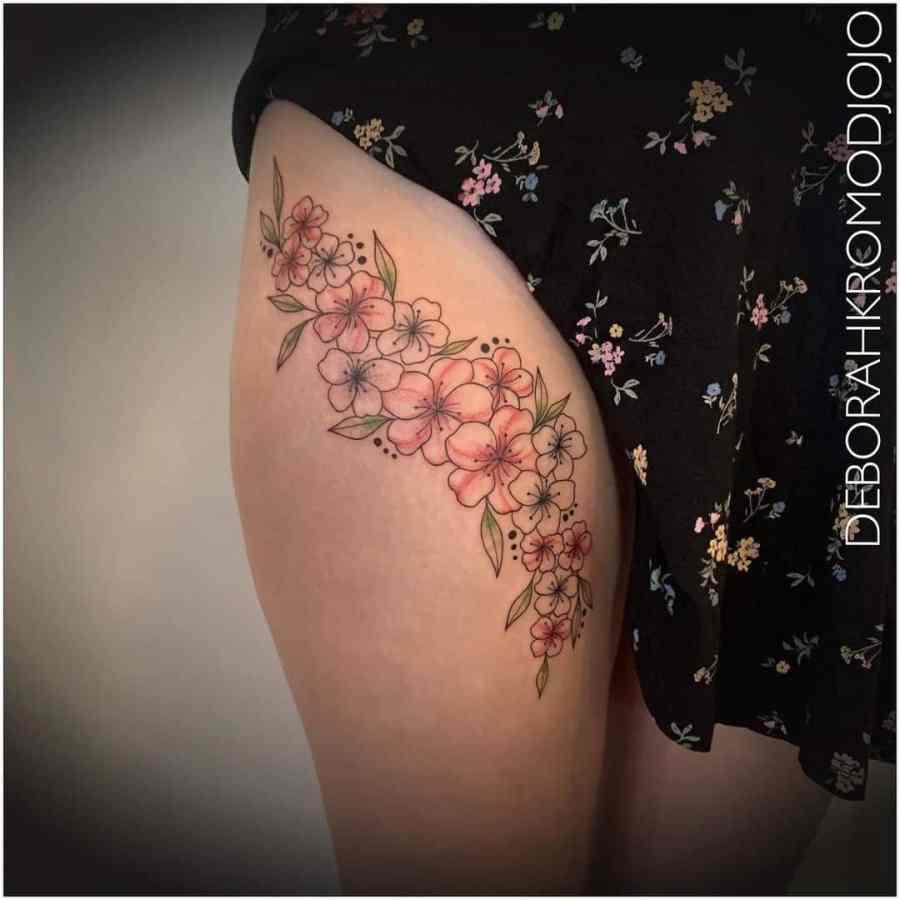 May Birth Flower Tattoos 2021072404 - May Birth Flower Tattoos: Bellflower and Hawthorn Tattoo