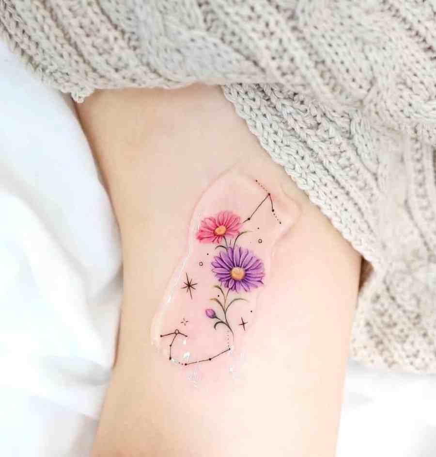 September Birth Flower Tattoos 2021073105 - September Birth Flower Tattoos: Morning Glory Tattoo