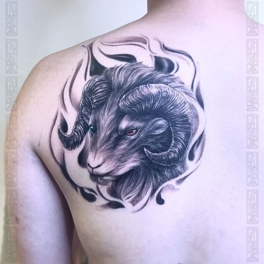Aries Tattoos 2021082104 - The Best Aries Tattoos and Meanings