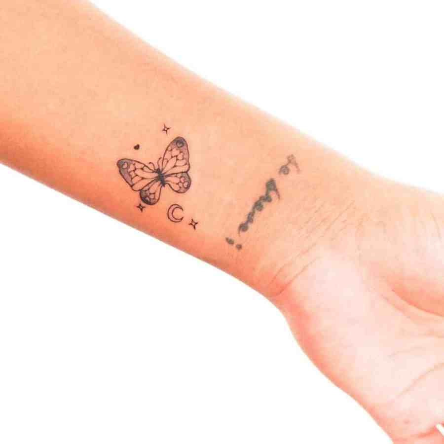 Butterfly Tattoo 2021080105 - The Perfect Butterfly Tattoo to Inspire You