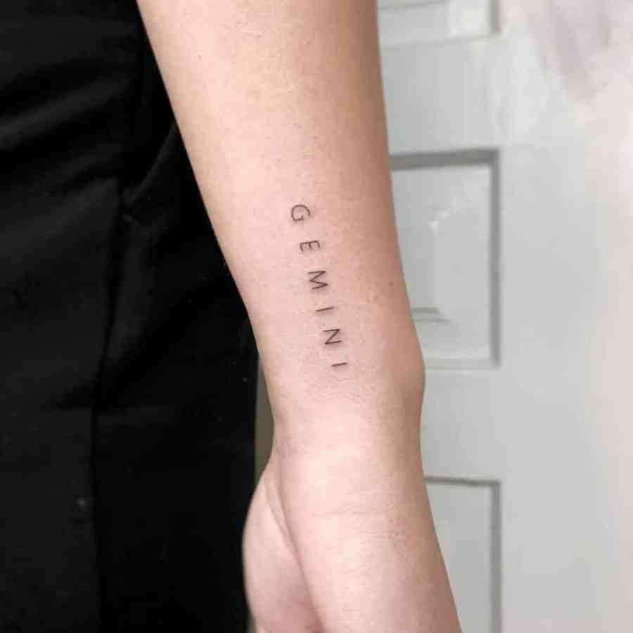 Gemini Tattoo 2021083006 - The Best Gemini Tattoo and Meaning
