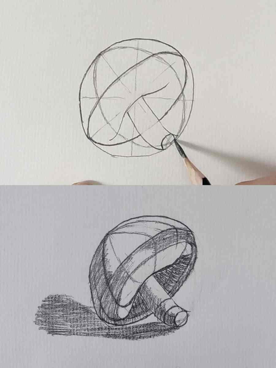 How to Draw a Mushroom 2021081005 - How to Draw a Mushroom for Beginners