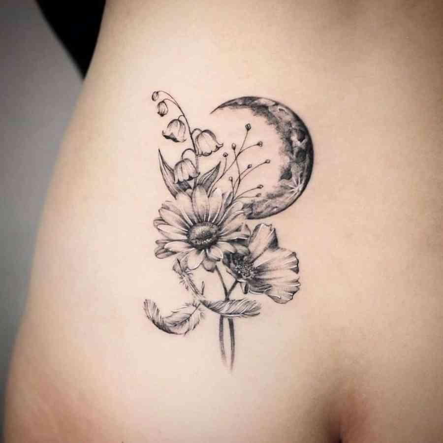 October Birth Flower Tattoos 2021080204 - October Birth Flower Tattoos: Marigold and Cosmos